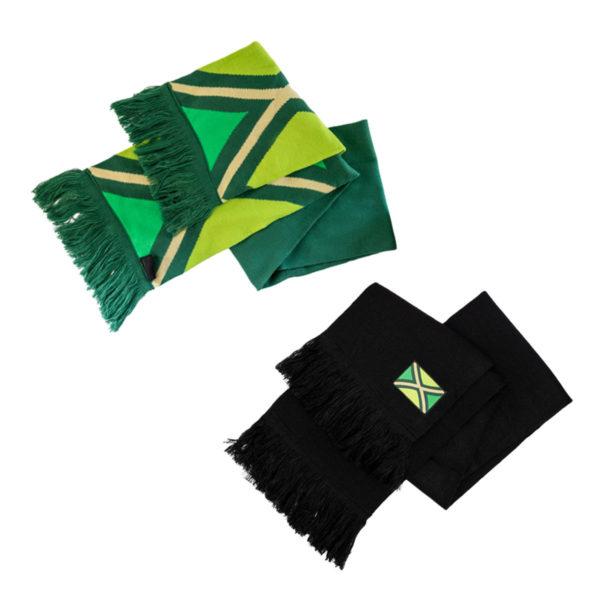 achterhoekse sjaal groen en zwart
